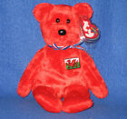 TY WALES the BEAR BEANIE BABY (WALES EXCLUSIVE) - MINT with MINT TAG