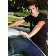 Orlando Bloom Leaning Against Car Looking in Black 8 x 10 Inch Photo