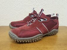 Women's Emilio Sports MAD Athletic Shoe Suede Leather w/ Fabric Maroon Red 6.5