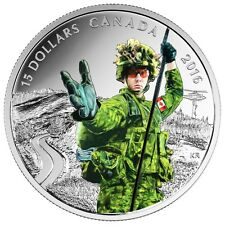 NATIONAL HEROES: MILITARY - 2016 $15 3/4 oz Fine Silver Coin - RCM - CANADA
