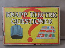 1930s Knapp Electric Questioner Game #325 Battery Opperated board