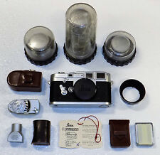 LEICA M3 EARLY 756685 CAMERA SYSTEM LEITZ 3 LENSES & ACCESSORIES