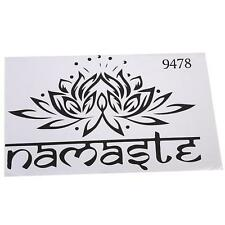 Novelty Namaste Lotus Flower Wall Sticker Decal Vinyl India Boho Home Decor - 6A