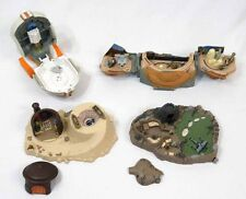 Star Wars Galoob Micro Machines Playsets & Figures Lot Dagobah Jabba Luke Head