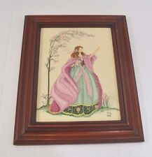 "Completed Counted Cross Stitch Windermere Angel MarBek Framed 13""x16"""