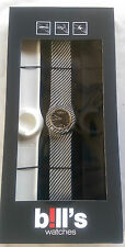 BILL'S WATCH CLASSIC PKCL06 LOCK SLAP BRACELET BNIB WARRANTY B!LL'S WATCHES