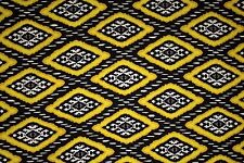 Yellow Black Ethnic Jersey Knit Print #123 Cotton Spandex Lycra Fabric BTY