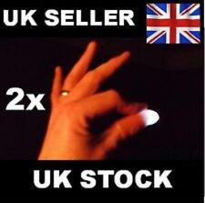 2x Magic Light up thumbs fingers WHITE trick appearing light close up illusion
