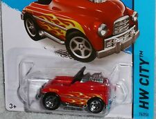 HOT WHEELS Pedal Driver Car Col. #74/250 HW WORKSHOP Red with flames