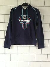 URBAN VINTAGE RETRO NAVY BLUE CHAMPION FESTIVAL SWEATSHIRT SWEATER HOODIE 10/12