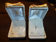 Disney Tinkerbell sterling silver necklace and earing boxed set