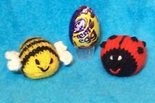 KNITTING PATTERN  - Bee and Ladybird chocolate cover fits Creme Egg