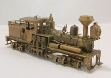 HO BRASS PFM GEARED LOGGING 2 TRUCK 25 TON BENSON SHAY LOCO-UNPAINTED-WOOD BURNR