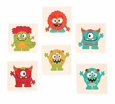 72 Mini MONSTER TATTOOS  temporary Halloween kids birthday party favors
