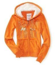 Aeropostale Womens Sherpa Orange Hoodie Size: Large