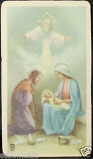 OLD BLESSED GOD AND HOLY FAMILY HOLY CARD ANDACHTSBILD SANTINI SEE MY SHOP C764