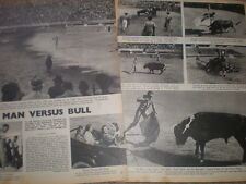Photo article bull fighting in Mexico 1945
