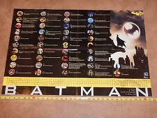 SDCC COMIC CON 2014 HANDOUT BATMAN 75 YEARS ANNIVERSARY TIMELINE POSTER 22 X 33