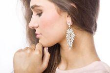 Earrings Women Ear Stud Fashion Spring Earrings Crystal Encrusted Leafy Earrings