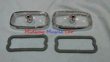 66 67 Pontiac GTO front turn signal parking lamp light assy  lens bezel & gasket