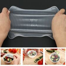 New 4pcs Re-usable Food Wraps TV Show Kitchen Accessories Tools Stretch  & Fresh