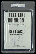 "Ray Lewis signed autograph auto 5x7 ""I Feel Like Going On"" Book Page PSA Slabbed"