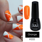 MAX 7ml Nail Art Color UV LED Soak Off Gel Polish #033-Orange