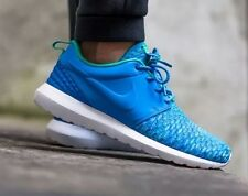 NIKE ROSHE NM FLYKNIT PREMIUM PRM Running Trainers Shoes - UK 7.5 (EUR 42) Blue