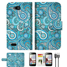 Seamless pattern with paisley Wallet TPU Case Cover For Telstra 4GX Buzz -- A022