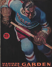 New York Rangers 1952-53 Official Magazine