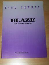 BLAZE - Presseheft ´90 - PAUL NEWMAN