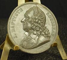 Médaille grès XIX Jean-Baptiste Rousseau poète et dramaturge f Vivier 41mm Medal