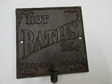 $0.25 Bath Sign cast iron  home barber shop decor ~~ free shipping Mother's Day