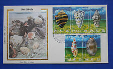"Palau (191-195) 1988 Seashells Colorano ""Silk"" FDC"