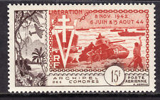 1951 COMORO ISLANDS AIR POST #C4 15fr SEPIA & RED, VF, MINT LIGHTLY HINGED