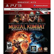 Mortal Kombat: Komplete Edition [PlayStation 3 PS3, Fighting Video Game] NEW