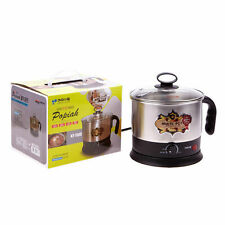 1.5L 50 oz Electric Cooker Hot Water Pot Cordless Kettle Ramen Soup Noodle Cook