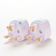 1x Universal Travel Adapter AU US EU to UK 3 Pin AC Power Plug Adaptor Connector