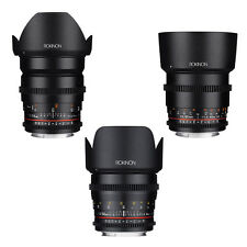 Rokinon Cine DS T1.5 Cine Lens Kit for Canon EF- 24mm + 50mm + 85mm