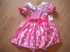 NEW Disney Store MINNIE MOUSE Pink DRESS 5T TODDLER GIRLS Halloween COSTUME