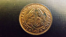 SOUTH AFRICA FARTHING  1954 UNC