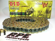 DID Chain VX Series Pro Street X Ring Gold Black 530 Chain With 118 Links
