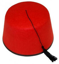 FEZ HAT RED TURKISH FANCY DRESS MOROCCAN TOMMY COOPER STYLE COSTUME ACCESSORY