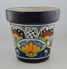 Mexican Ceramic Flower Pot Planter Folk Art Pottery Handmade Talavera # 12