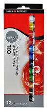 Daler Rowney Simply Oil Colour Artist Paint Set - 12 x 12ml Tubes