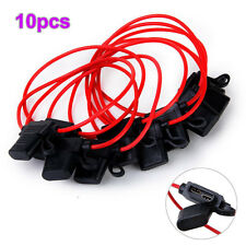 10pcs 40A In-Line Car Boat AUTO Blade Fuse Holder Waterproof 12AWG 125V DC