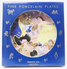 Disney Cartoon Kenleys LTD Beauty and the Beast Porcelain Plate Japan Boxed