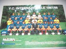 CARTOLINA CALCIO SQUADRA INTER F.C. 1987/88 GRANDE FORMATO UFFICIALE