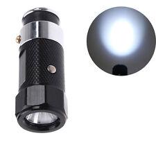 Mini Car Cigarette Lighter Lamp Rechargeable LED Flashlight Torch Light Black