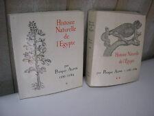 PROSPER ALPIN : HISTOIRE NATURELLE de l'EGYPTE 25 planches IFAO 1980
